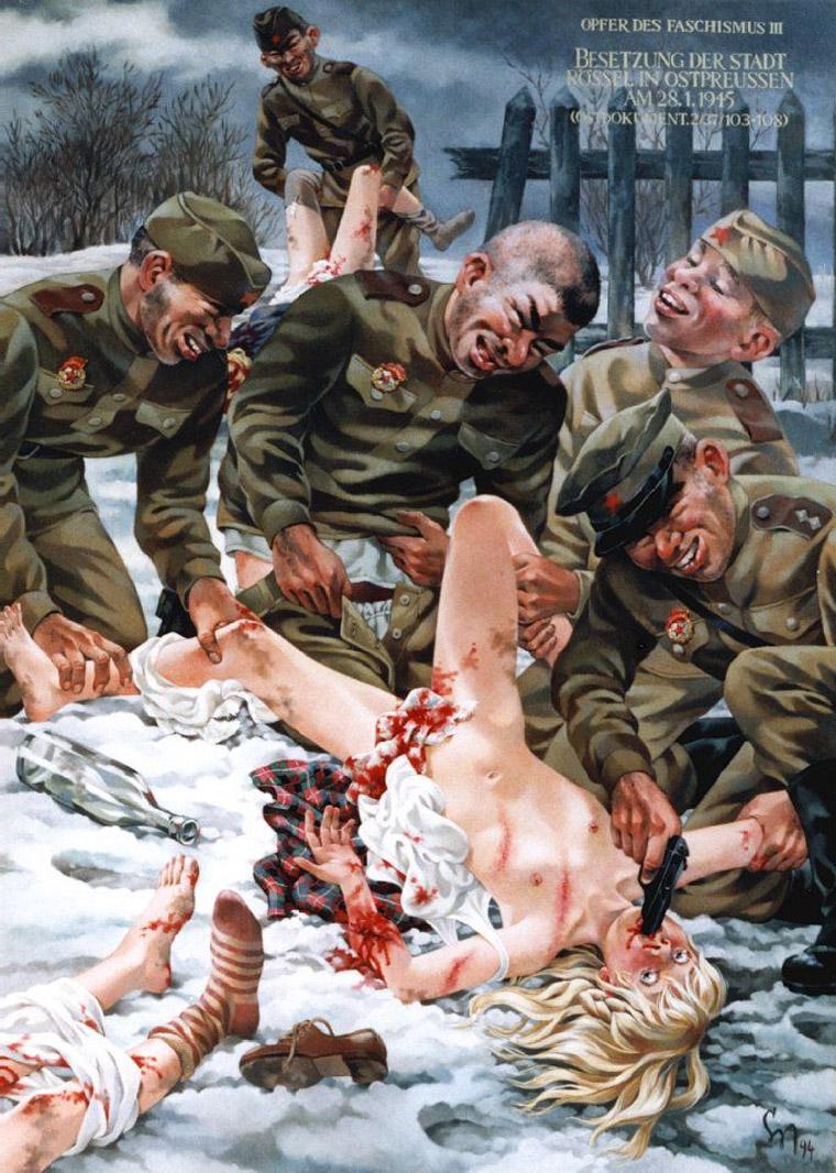 порно советские солдаты ебут немок
