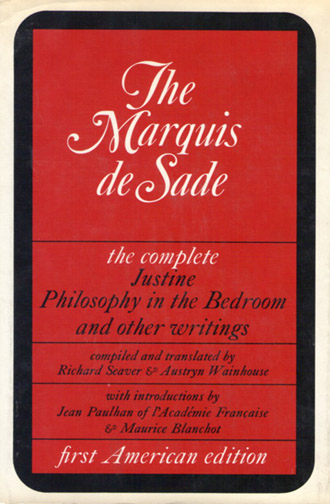 Above This Hardback Compilation Contains Justine Philosophy In The Bedroom And Other Writings Plus Letters Analogies