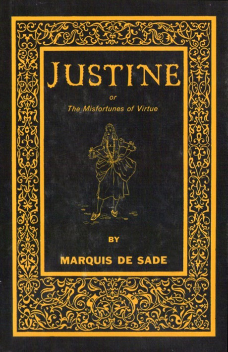 above this hardback book contains de sade 39 s 39 justine or the